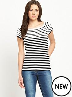 v-by-very-stripe-bardotnbsprib-top