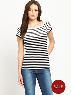 v-by-very-stripe-bardotnbsprib-top