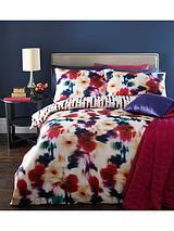 Blur Floral Digital Print 100% Cotton Duvet Cover Set - Multi