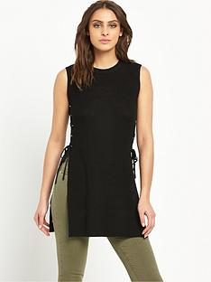 v-by-very-eyelet-tie-split-side-tunic