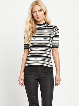 miss-selfridge-stripe-side-split-top