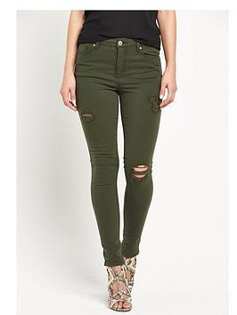 miss-selfridge-lizzie-ripped-skinny-jeansnbsp