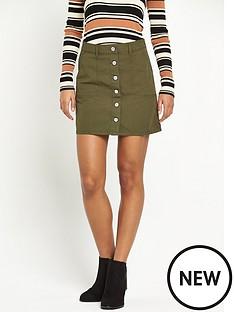 miss-selfridge-khaki-skirt