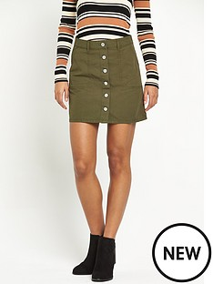 miss-selfridge-miss-selfridge-khaki-skirt