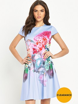 ted-baker-focus-bouquet-neoprene-skater-dress