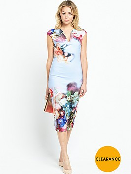 ted-baker-focus-bouquet-neoprene-dressnbsp