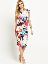 Floral Swirl Print Dress