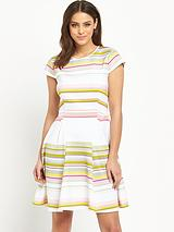 Carousel Stripe Skater Dress