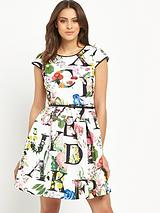 Ditzy Alphabet Skater Dress