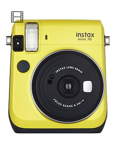 fuji-instax-mini-70-instant-camera-yellow-inc-10-shots