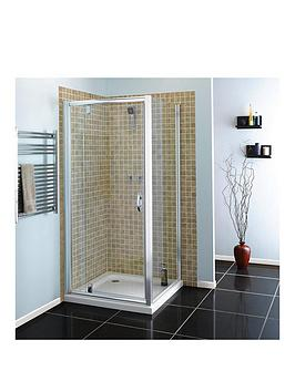 Aqualux 800Mm Pivot Shower Door And Side Panel Package