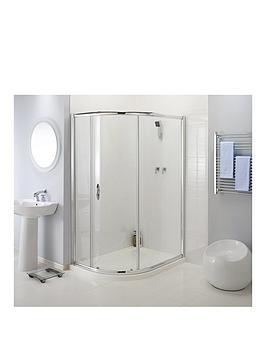Aqualux 900Mm Single Door OffSet Quadra
