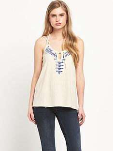 miss-selfridge-embroidered-crochet-trim-cami-top