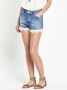 miss-selfridge-miss-selfridge-crochet-hem-shorts