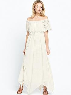 miss-selfridge-bardot-ruffle-midi-dress