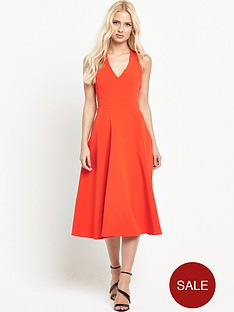 warehouse-cross-back-v-neck-dress