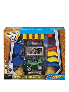 hot-wheels-hot-wheels-monster-jam-crash-amp-carry-arenda-playset