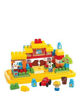 Mega Bloks First Builders Farm Large Tubtown