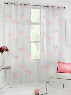 flamingo-eyelet-voile-pair-pink-55-x-90-inch