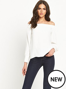 warehouse-off-shoulder-bardot-top-with-long-sleeves