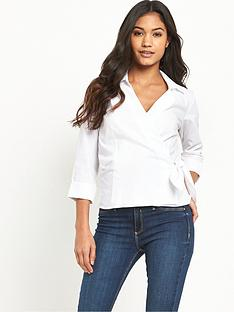 warehouse-wrap-tie-side-shirt