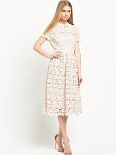 warehouse-collar-lace-dress