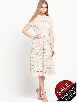 warehouse-collar-lace-dress