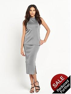 warehouse-smart-rib-side-split-tube-skirt