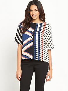 warehouse-boxy-stripe-top