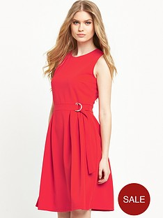 warehouse-stepped-hem-belted-dressnbsp