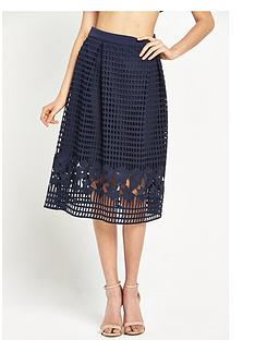 warehouse-grid-lace-skirt