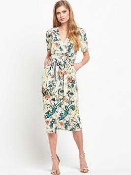 warehouse-bird-print-dress
