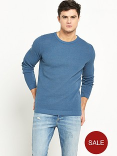 river-island-textured-crew-neck-jumper