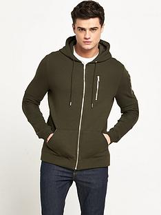 river-island-zip-detail-hooded-top