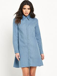 glamorous-long-sleeve-shirt-dress