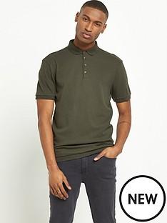 river-island-textured-short-sleeved-polo-shirt