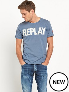 replay-front-logo-short-sleeved-tshirt