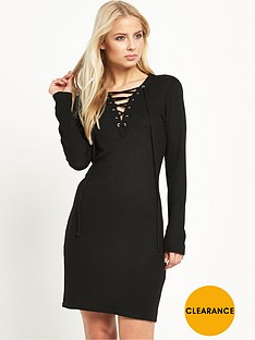 vero-moda-simona-string-long-sleeve-short-dress