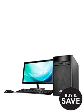 asus-k31an-uk002t-intelreg-pentiumreg-4gb-ram-1tb-hard-drive-215-inch-desktop-bundle-with-optional-microsoft-office-365-personal-black