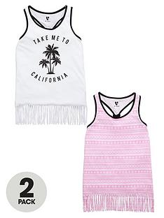 v-by-very-girls-fringed-vests-2-pack