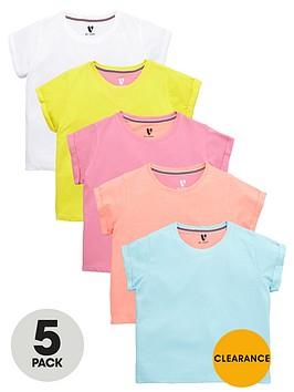 v-by-very-girls-bright-t-shirts-5-pack