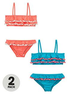 v-by-very-girls-ruffle-pom-pomnbspbikinis-2-pack