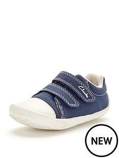 clarks-clarks-little-chap-canvas-strap-shoe
