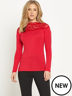 v-by-very-ls-lace-bardot-jersey-top