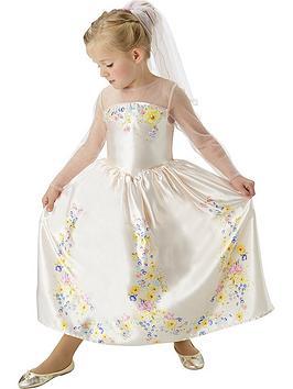 Disney Princess Disney Live Action Cinderella Wedding Dress  Child Costume