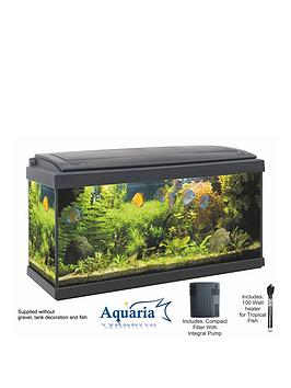 Lotus Aquaria Fish Tank Set 80  93Ltrs Including Led Lighting 100 Watt Heater Pump And Filter