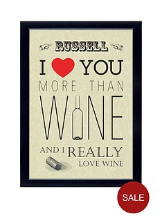 personalised-039i-love-you-more-than-wine039-poster