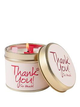 LilyFlame Thank You Tin Candle