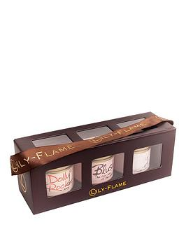 LilyFlame Candle Gift Set  Fairy Dust Blush &Amp Dolly Rocker