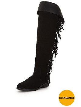 miss-selfridge-fringe-over-the-knee-black-boot